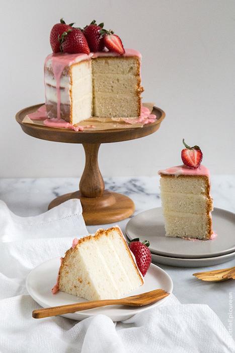 strawberry-vanilla-cake