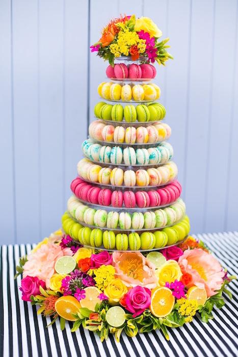 tropical-macaron-tower