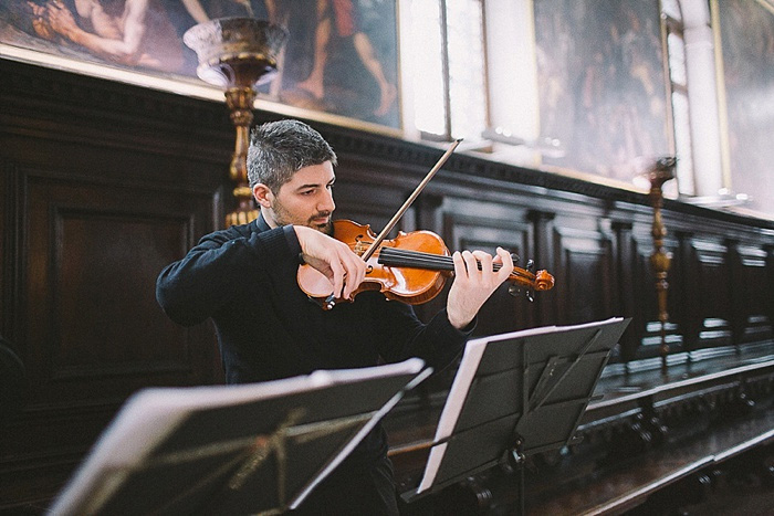 violinist at Venice elopement ceremony