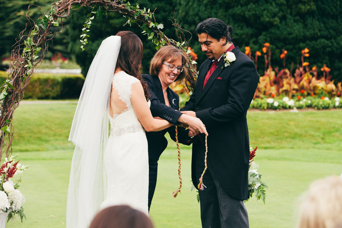 hand tying ceremony during wedding ceremony
