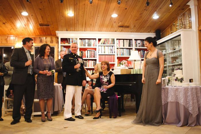 tea room wedding reception
