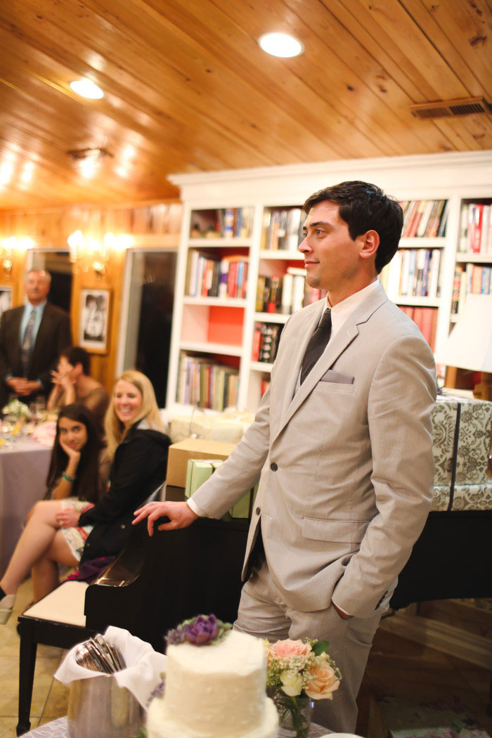 groom listening to speeches