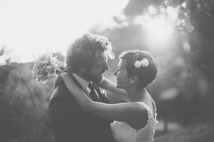 bride and groom portrait in Tuscany