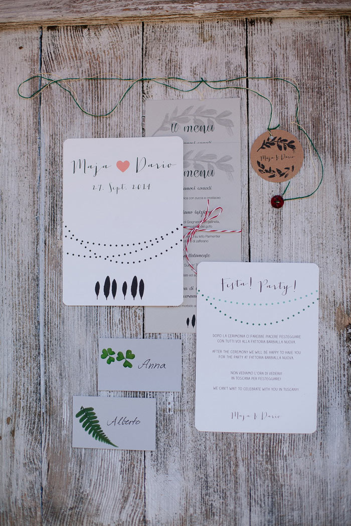 Tuscan Wedding invitation suite