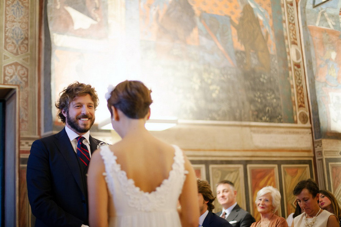 Tuscan church wedding ceremony