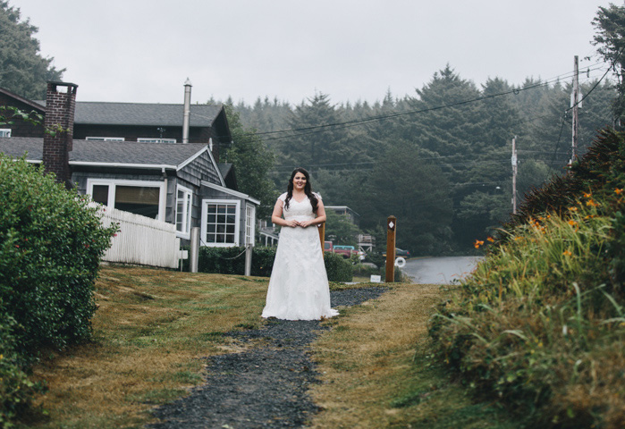 foggy bride portrait