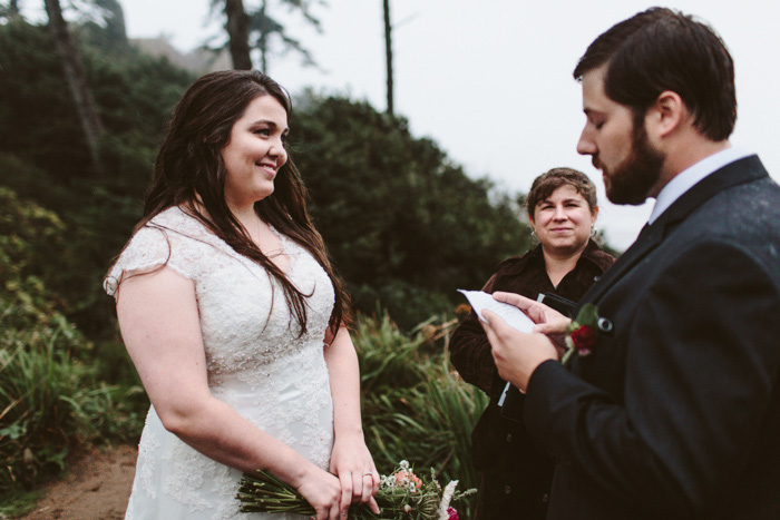 outdoor elopement ceremony