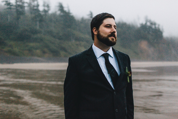 groom on Oregon beach