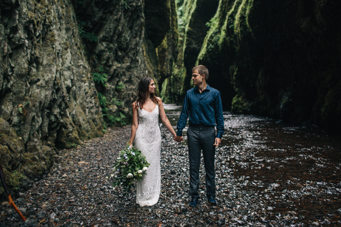 Oregon styled elopement