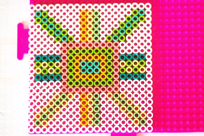 perler bead coaster