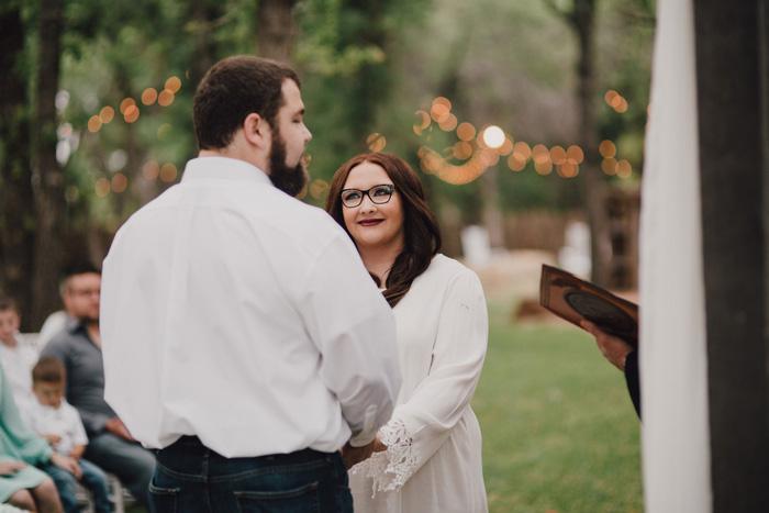 rustic outdoor Texas wedding ceremony