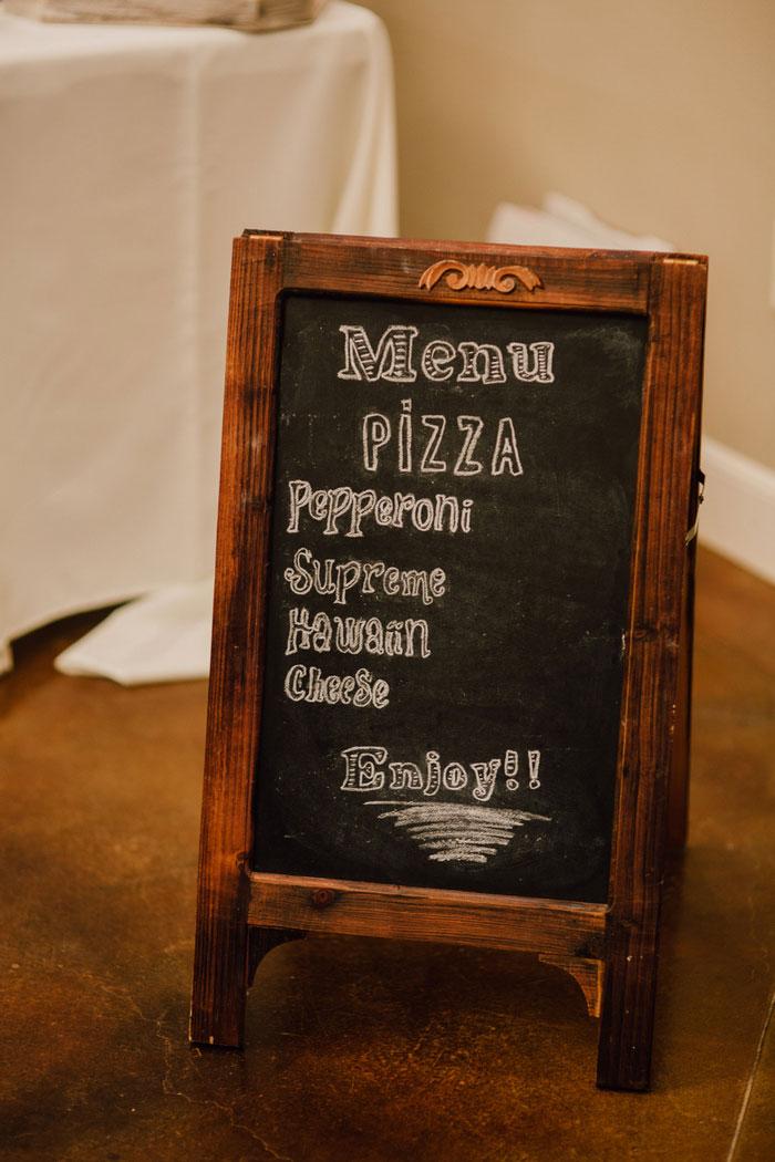 chalkboard wedding menu
