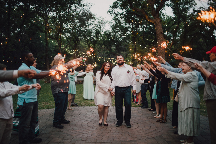 sparkler wedding send-off