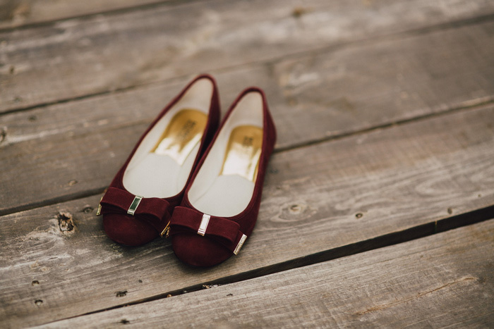 wine colored wedding shoes