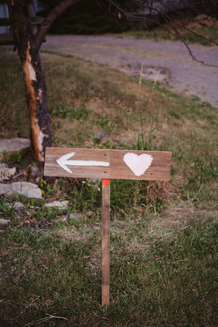 wooden wedding sign