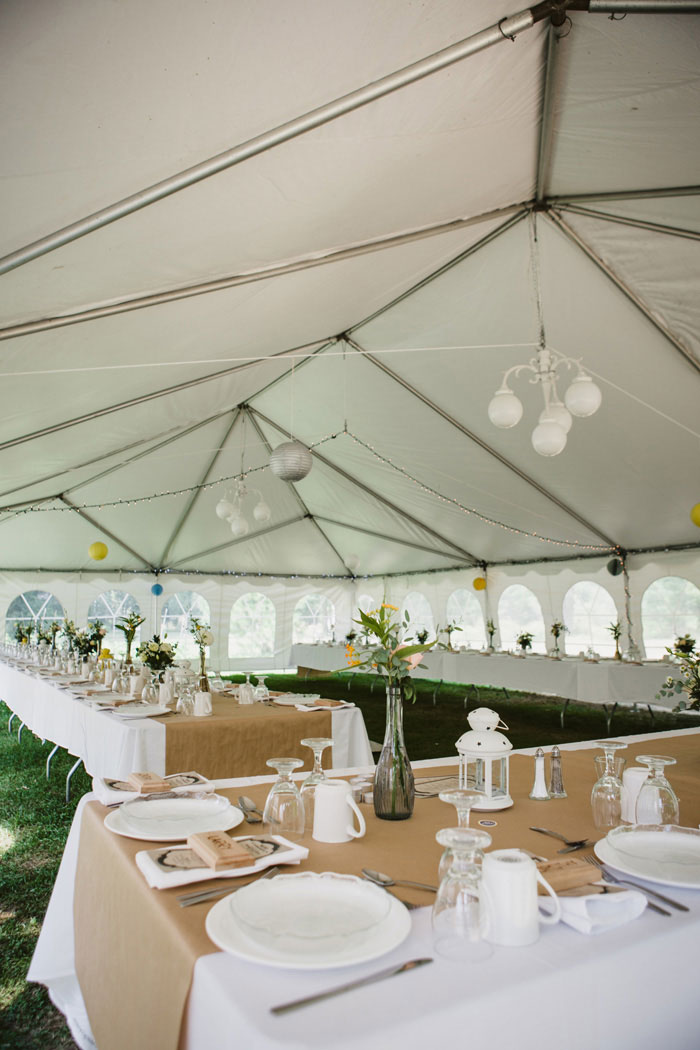 outdoor tent wedding reception