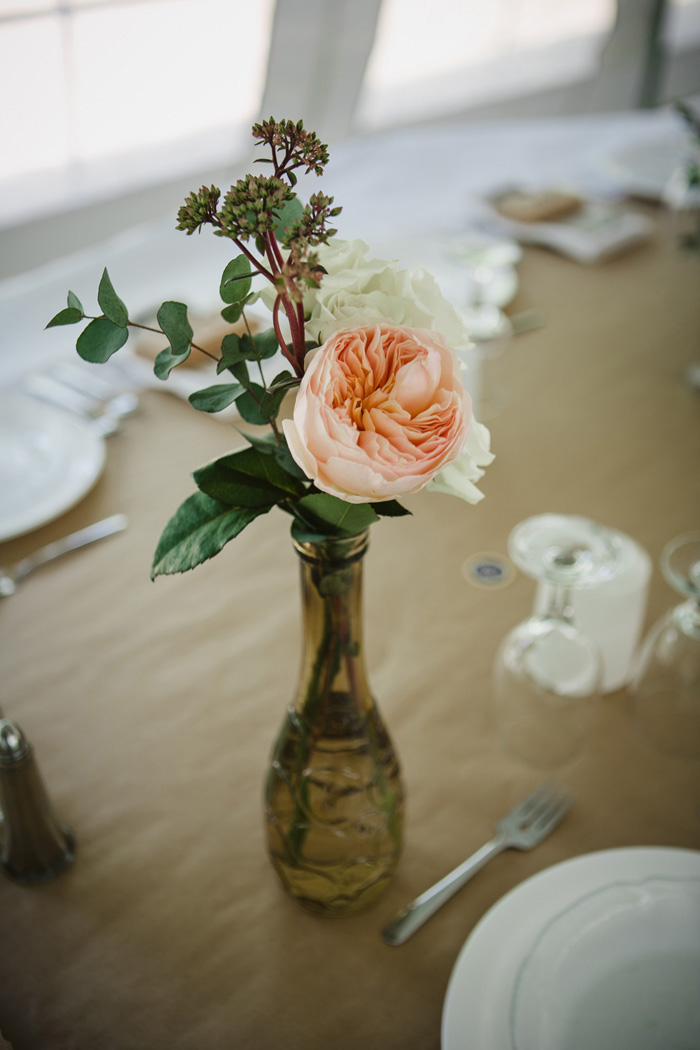 garden rose centerpiece