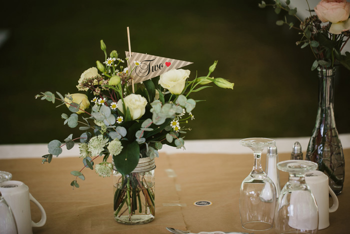 centerpiece and flag table number