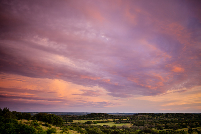 pink texas sunset