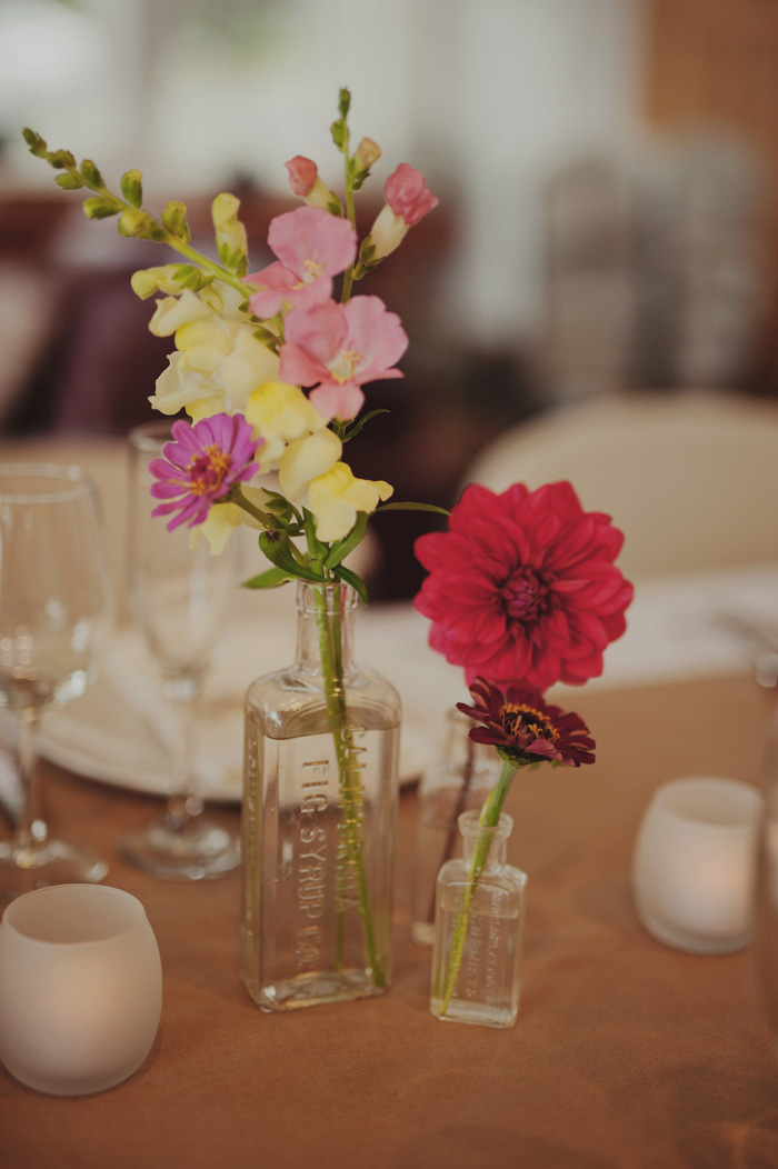 simple at home wedding table setting