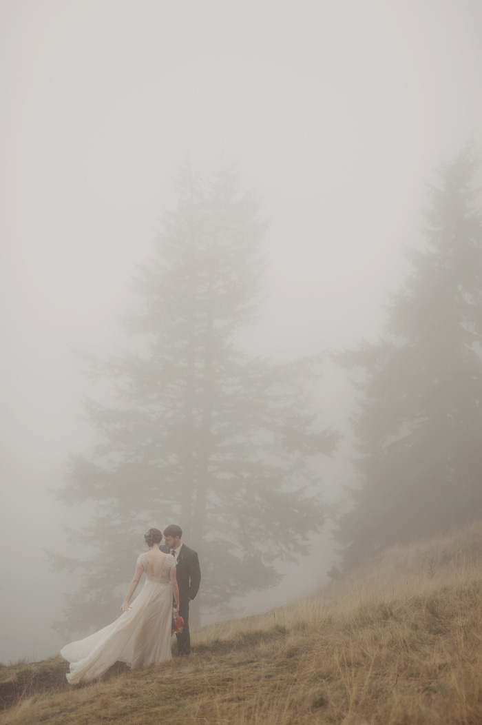 Foggy Orcas Island Wedding
