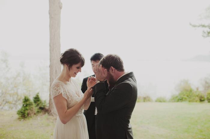Orcas Island wedding ceremony