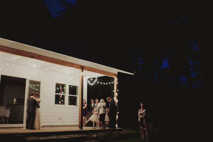 at-home wedding reception