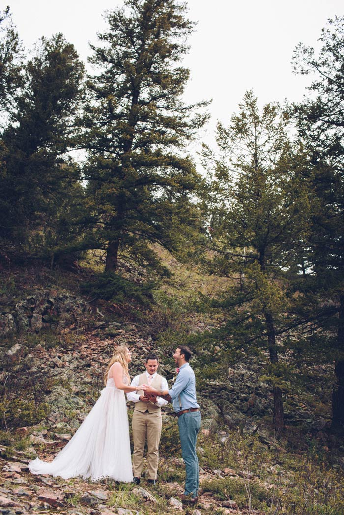 Colorado elopement ceremony