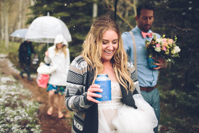 bride holding beer