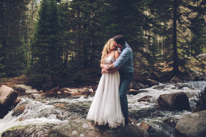 bride and groom portrait in Colorado