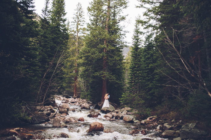wedding portrait in Colorado wilderness