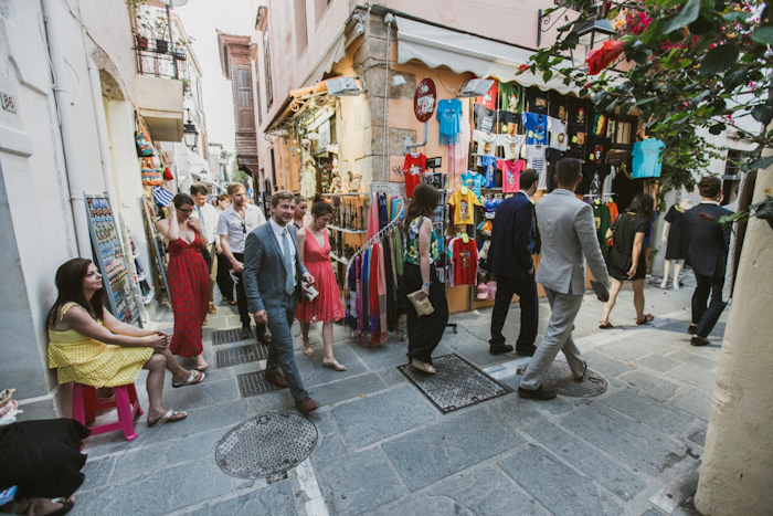 wedding guest procession to reception location