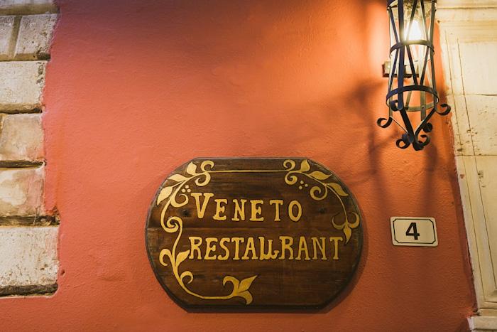 Veneto restaurant sign
