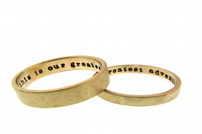 engraved gold - Alternative Wedding Rings
