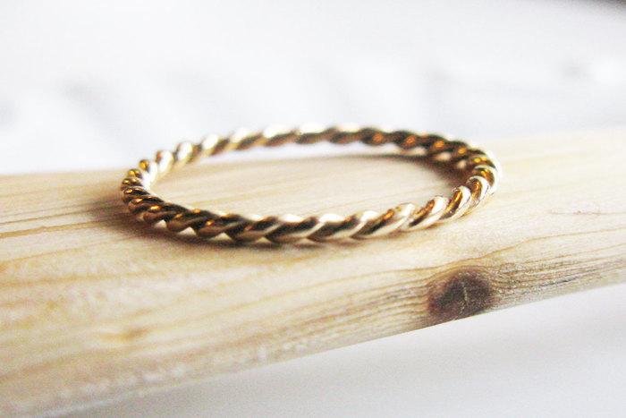 gold braided - Alternative Wedding Rings