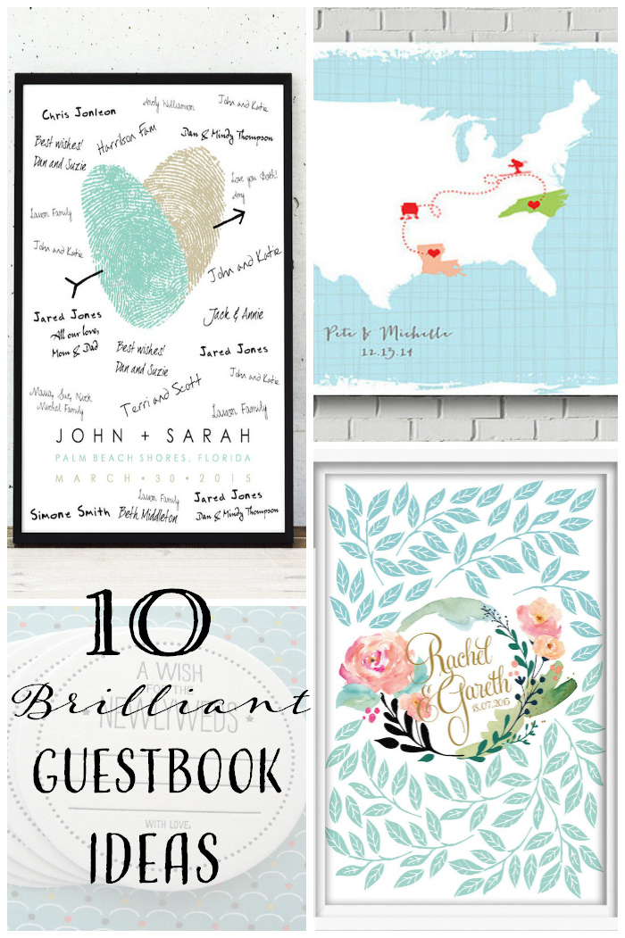 10 Brilliant Wedding Guestbook Ideas