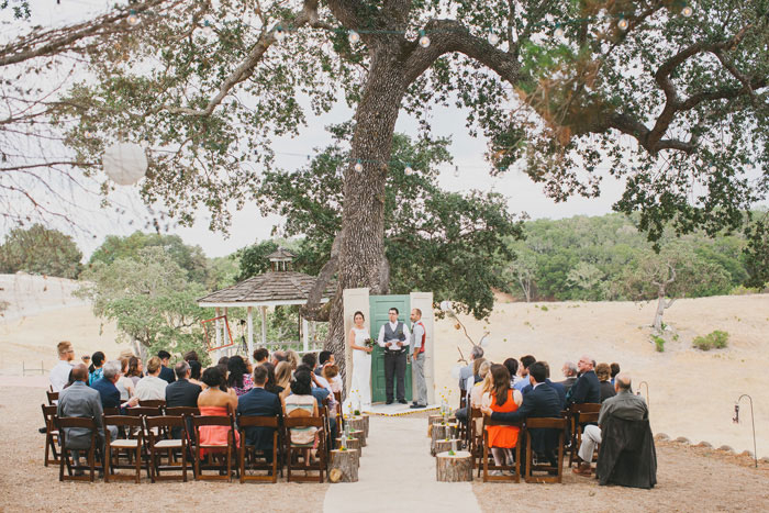 intimate wedding in california