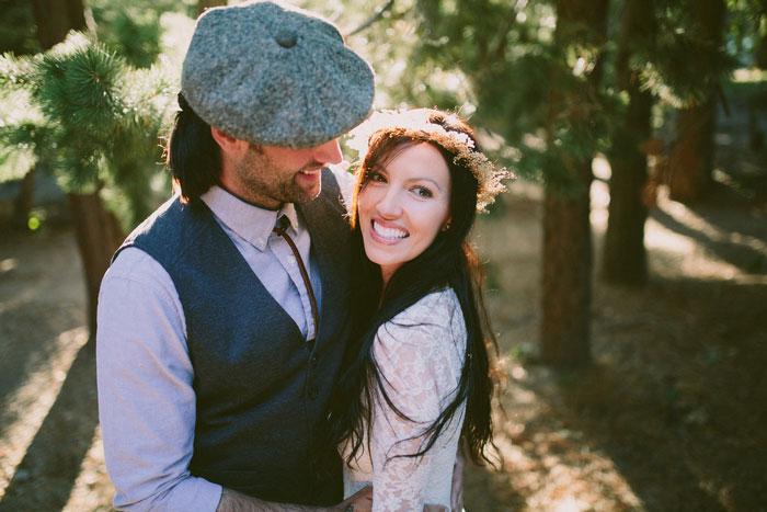 bride and groom elopement portrait