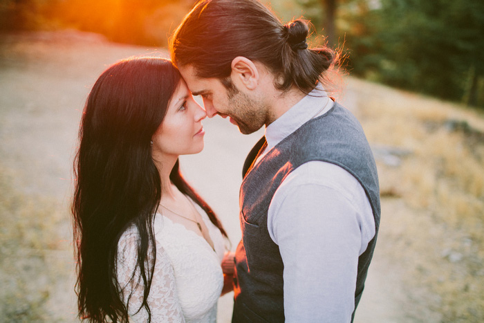 intimate mountain elopement