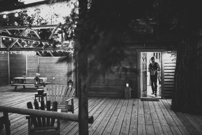 mountain cabin elopement reception