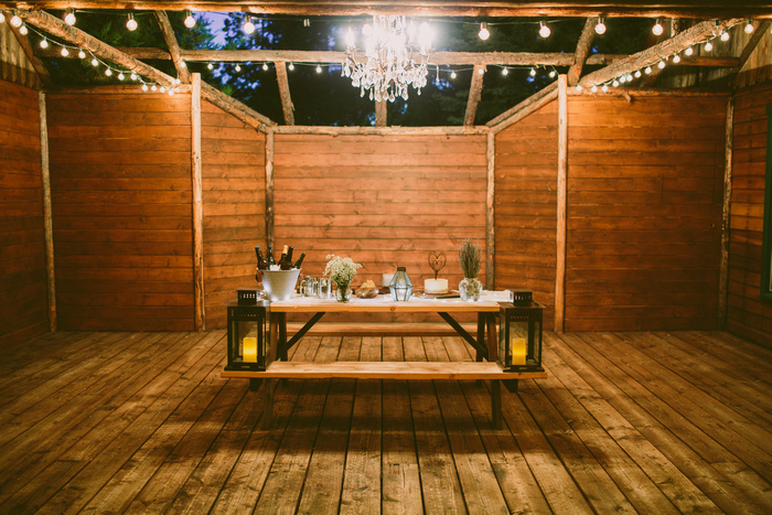 mountain cabin elopement reception