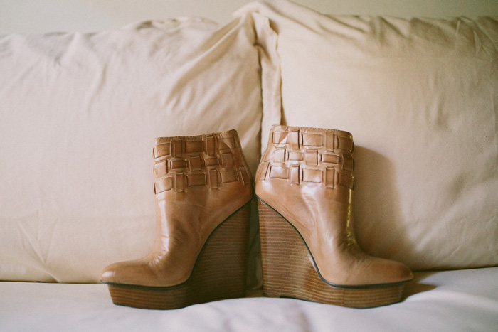 bride's wedge boots