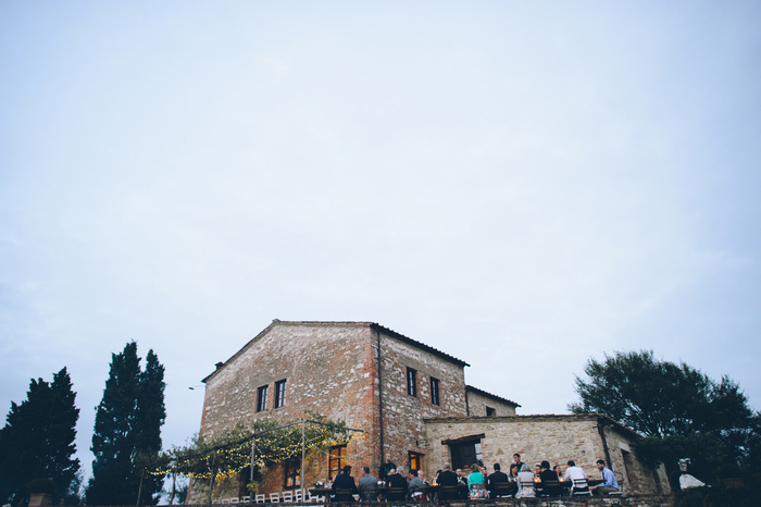 outdoor Tuscan wedding reception