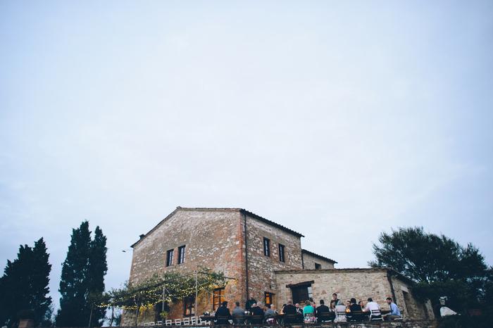 outdoor Tuscan wedding reception