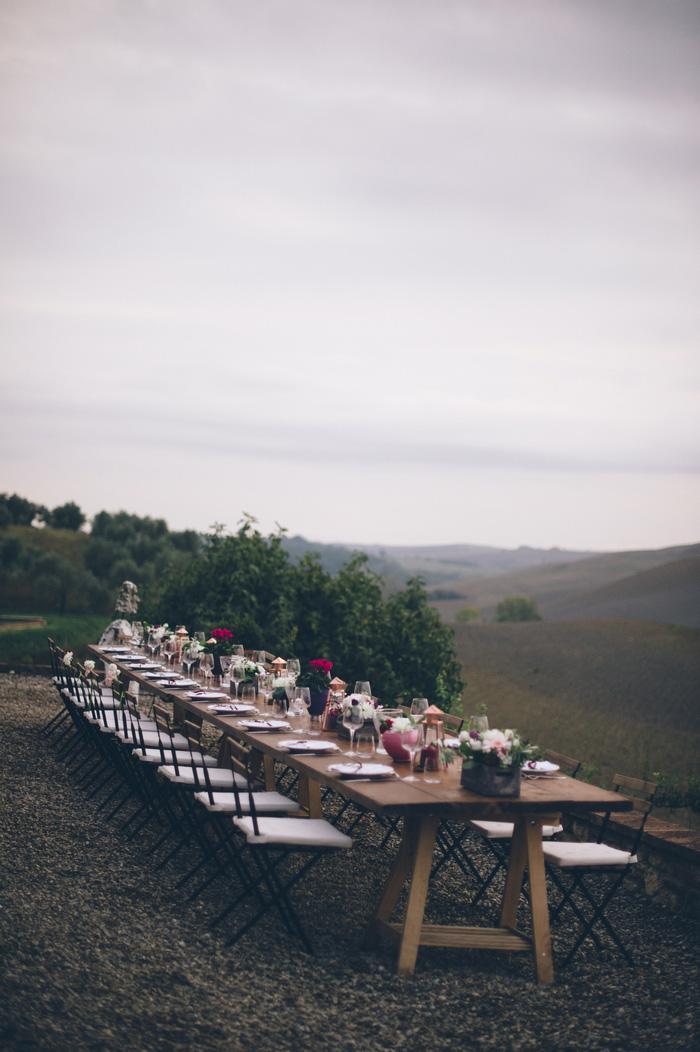 wedding reception dinner set-up