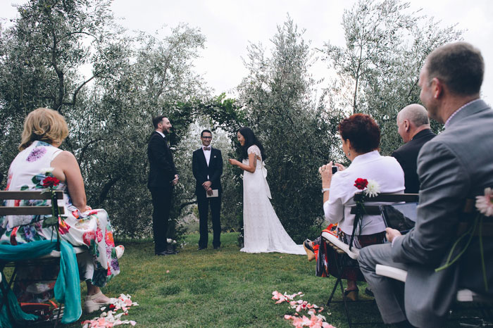 Tuscan wedding ceremony
