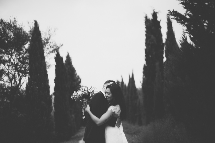 wedding portrait in Tuscany