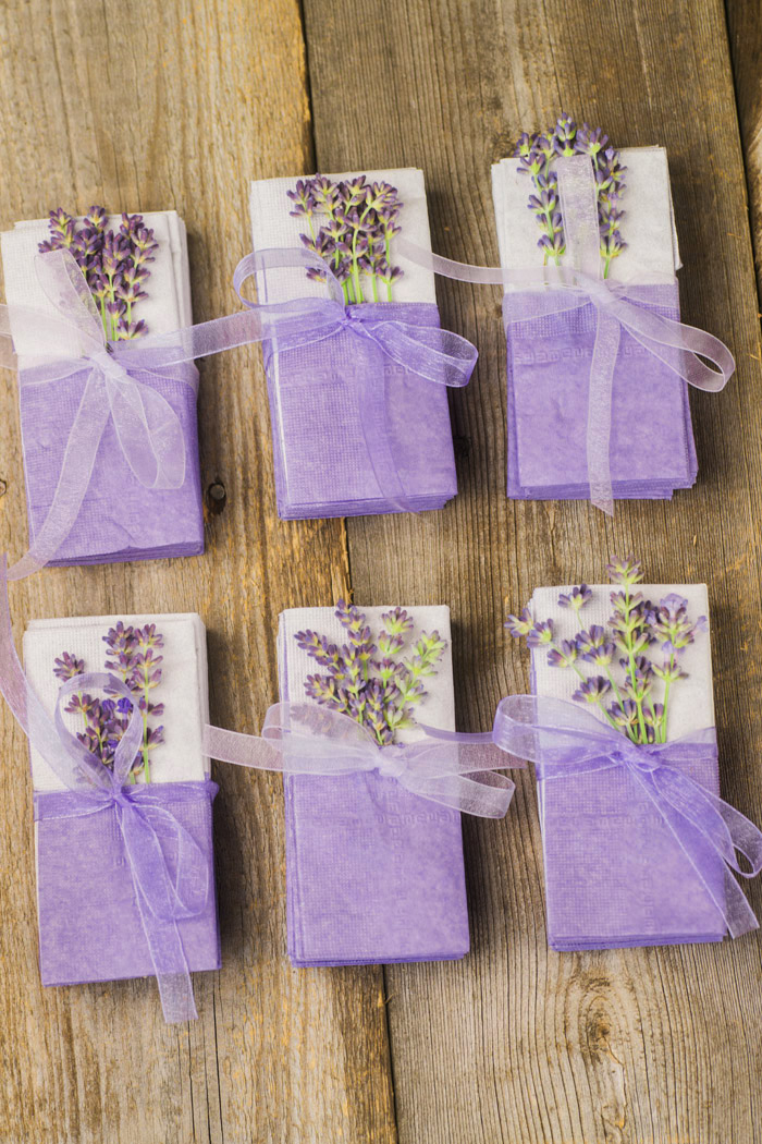 lavender wedding tissues