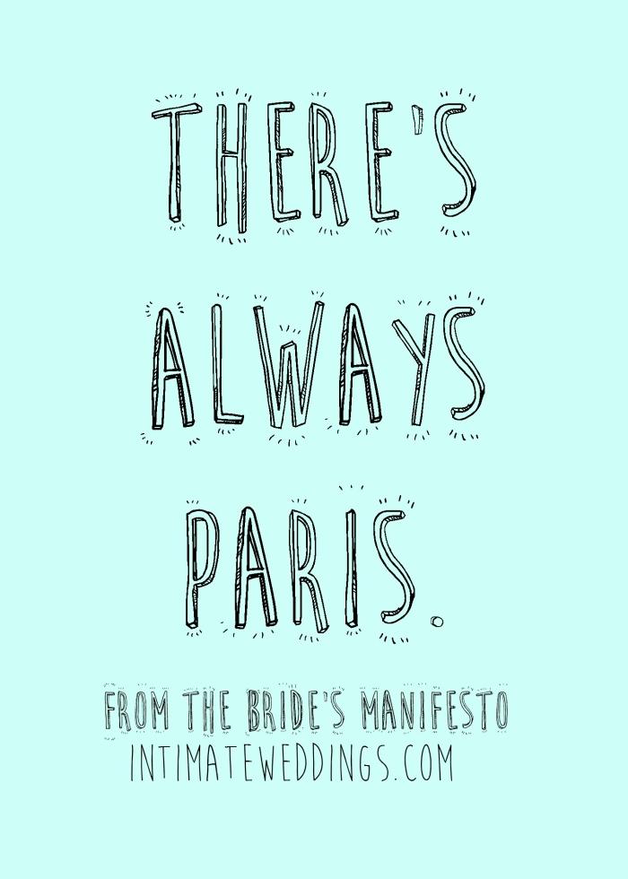 paris brides manifesto