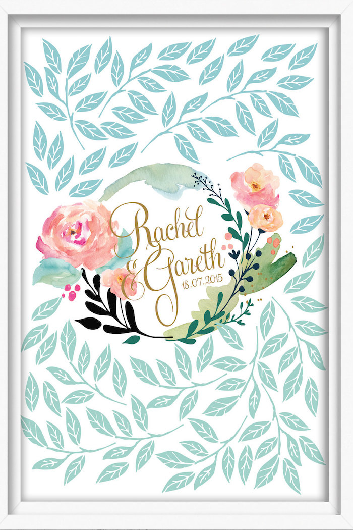 mint-wedding-guestbook
